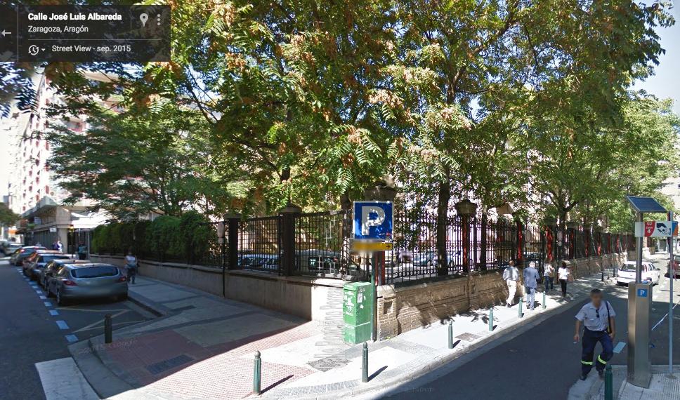 ZGZ Dinámica calle albareda google maps