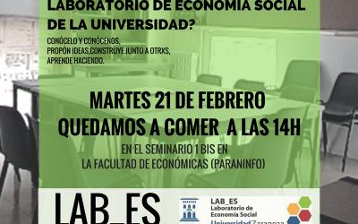 Ruta cooperativa con el Laboratorio de Economía Social