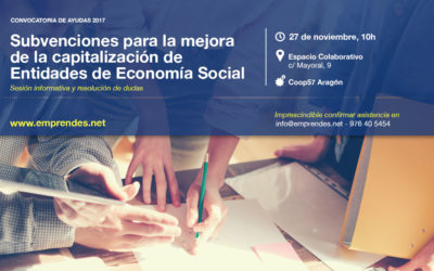 Abierta la convocatoria de subvenciones para la mejora de la capitalización de Entidades de Economía Social