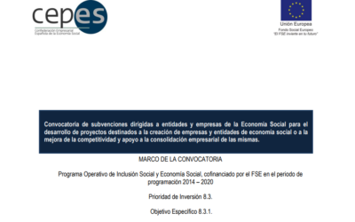 CEPES lanza convocatoria de subvenciones para la creación y apoyo a empresas de ESS