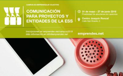 Vuelve el Campus de Emprendizaje Colectivo para abordar la Comunicación desde la ESS
