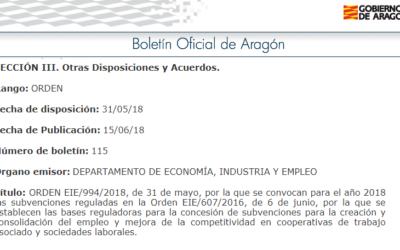Subvenciones para la creación y consolidación del empleo y mejora de la competitividad en cooperativas de trabajo asociado y sociedades laborales