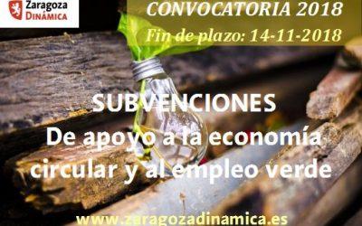 Subvenciones de apoyo a la economía circular y al empleo verde