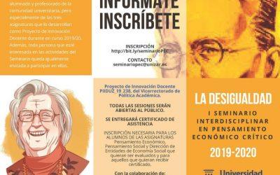 I Seminario interdisciplinar en Pensamiento Económico Crítico