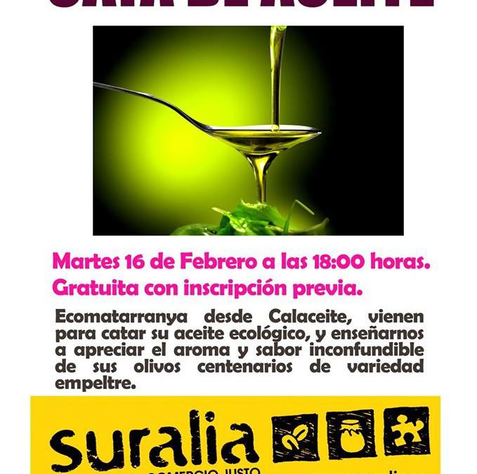 Cata de Aceite en Suralia con Ecomatarranya de Teruel