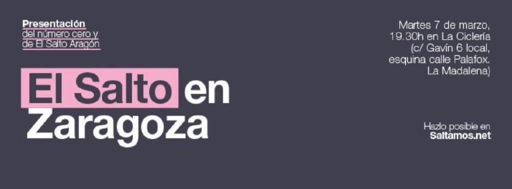 Presentación en Zaragoza del número cero de El Salto