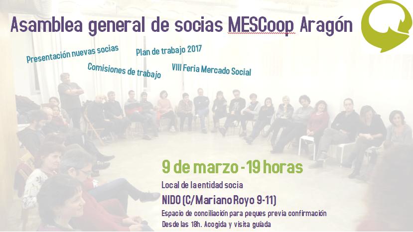 9 de marzo Asamblea General MESCoop Aragón