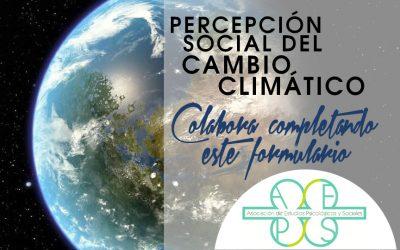 Participa en este cuestionario sobre la percepción social del cambio climático