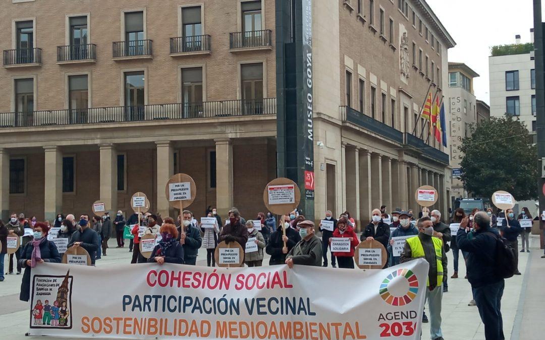 Concentración protesta Presupuestos Municipales 2021